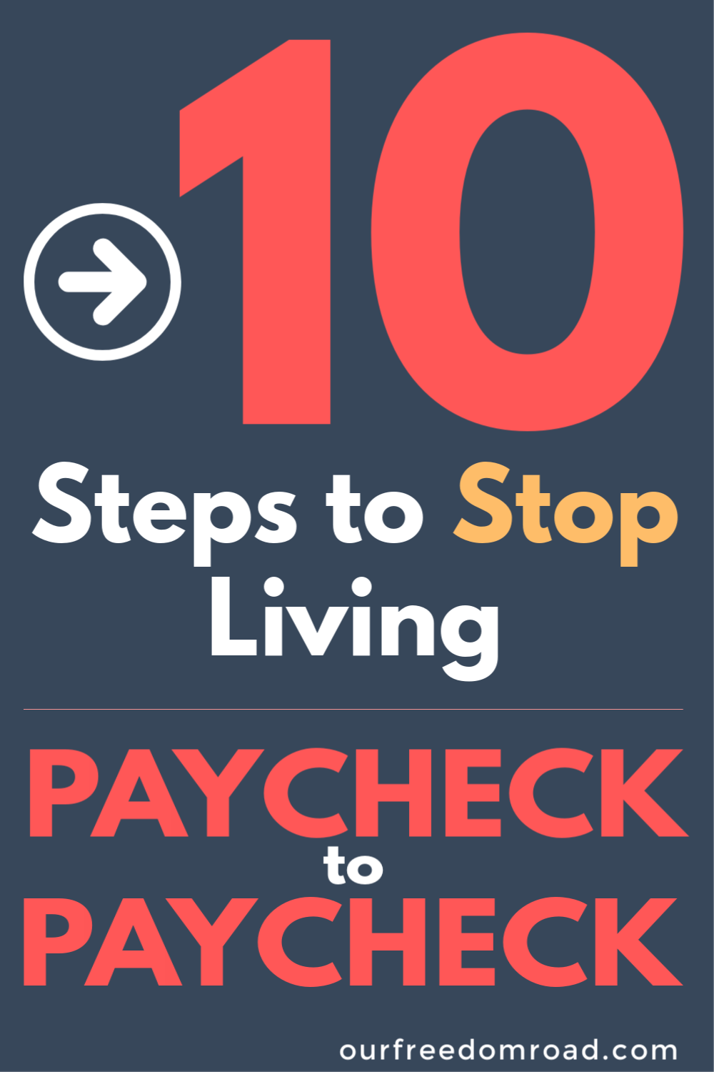 10 Steps to Stop Living Paycheck to Paycheck